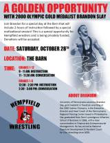 Olympic Champion Brandon Slay Clinic – October 28th